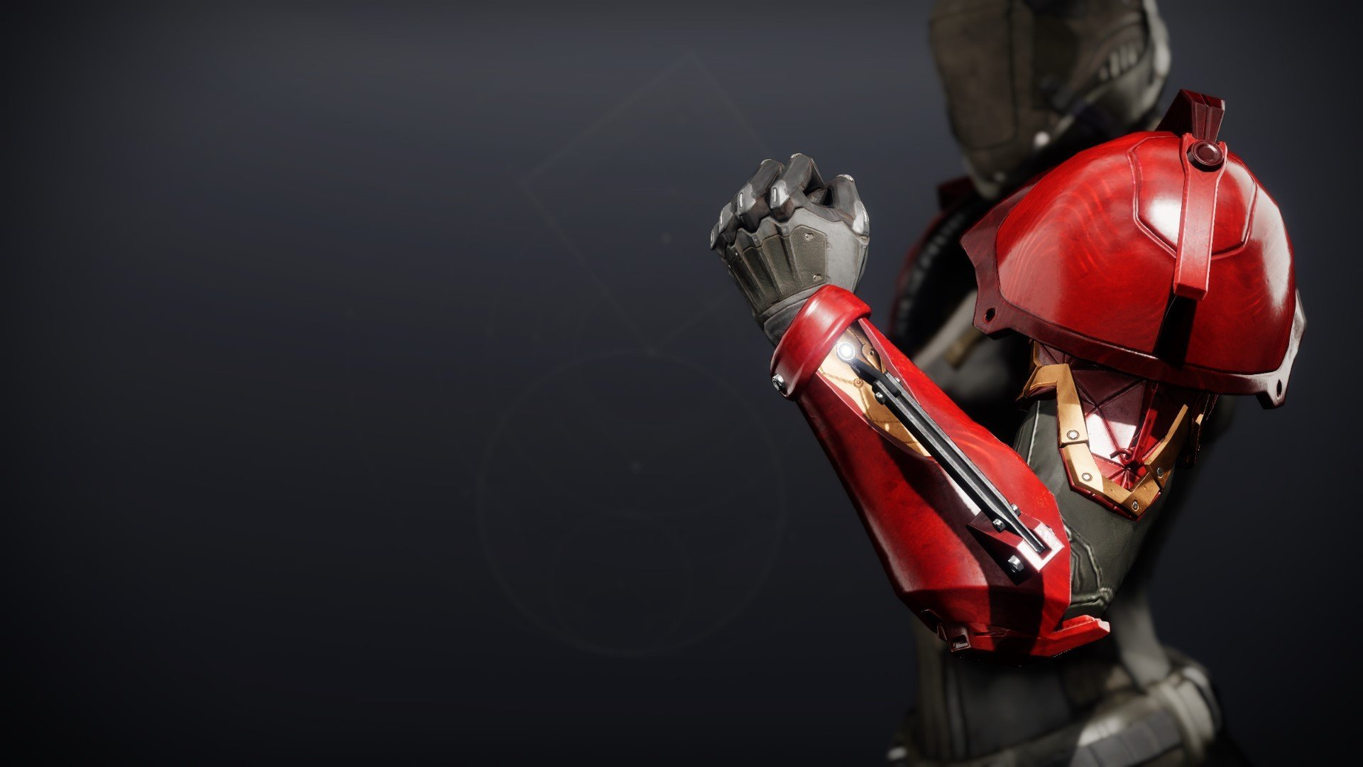 An in-game render of the Forged Machinist Gauntlets.