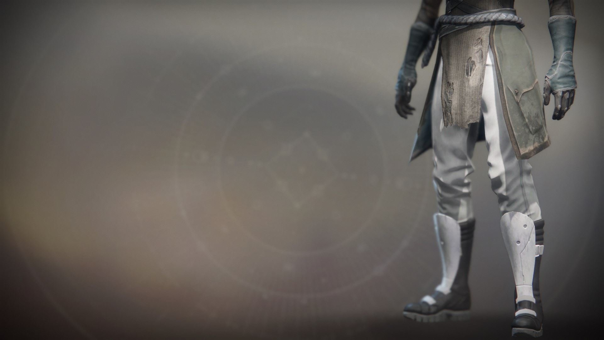 An in-game render of the Solstice Boots (Resplendent).
