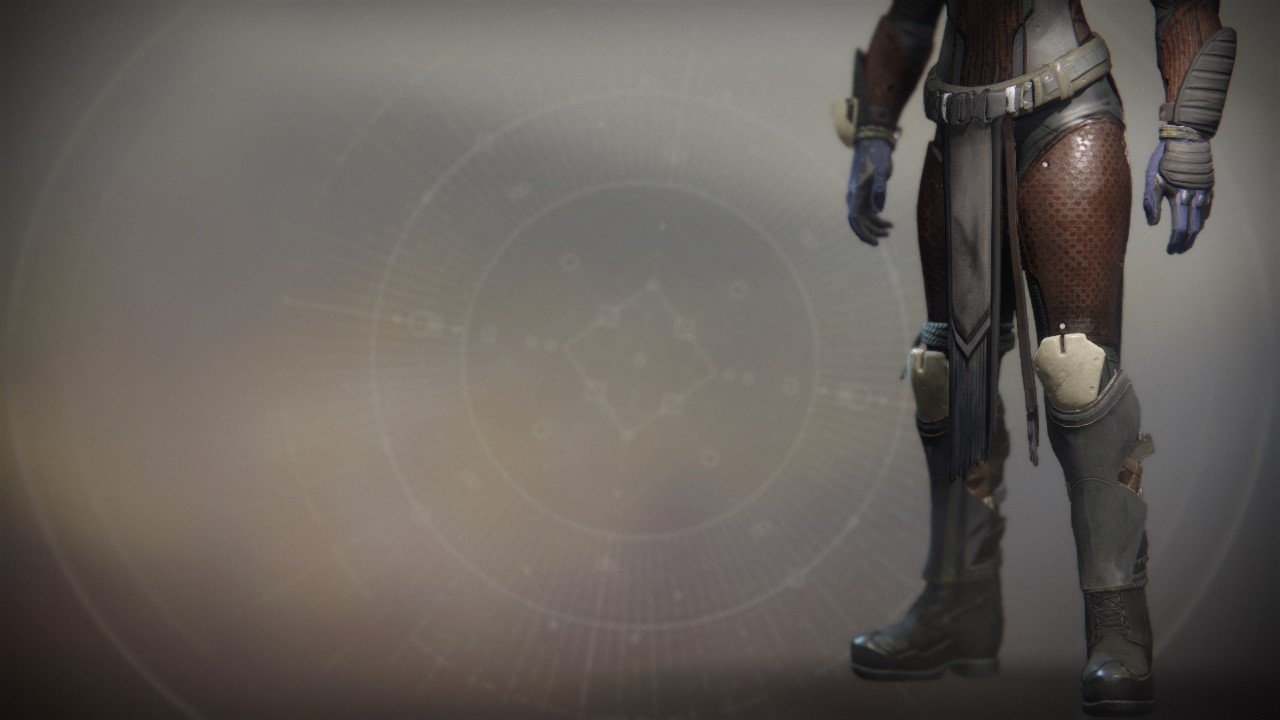 An in-game render of the Renegade Greaves.