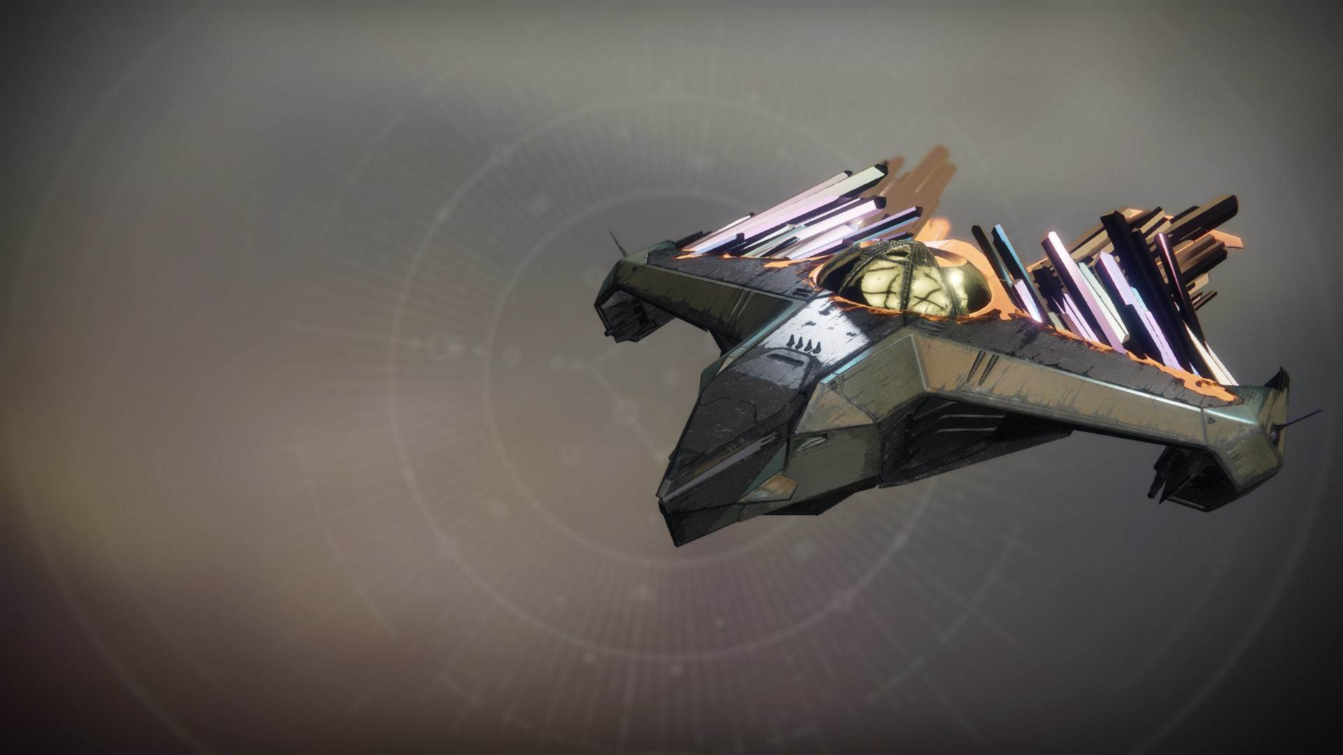 An in-game render of the Kabr's Glass Aegis.