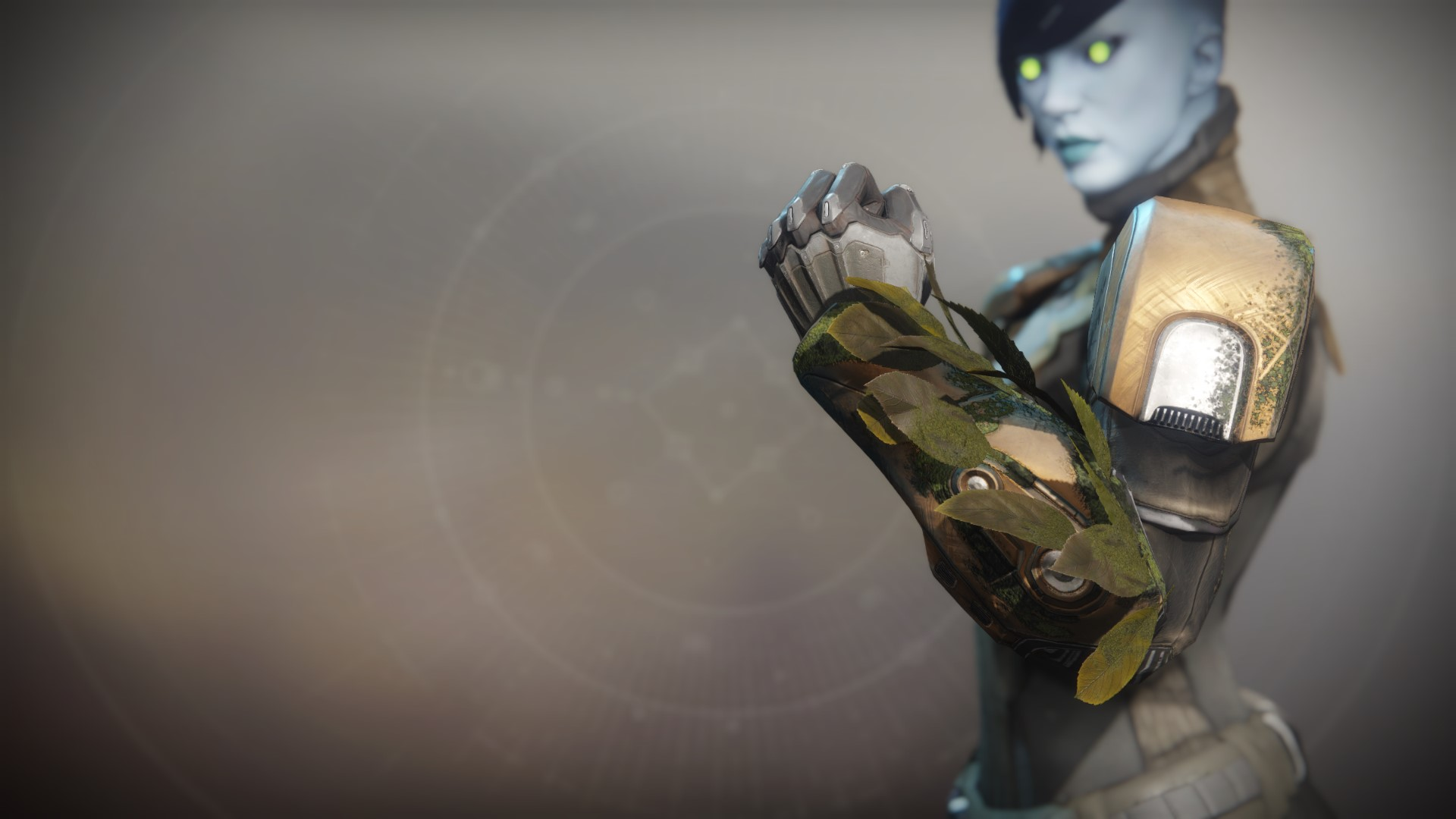 An in-game render of the Substitutional Alloy Gauntlets.