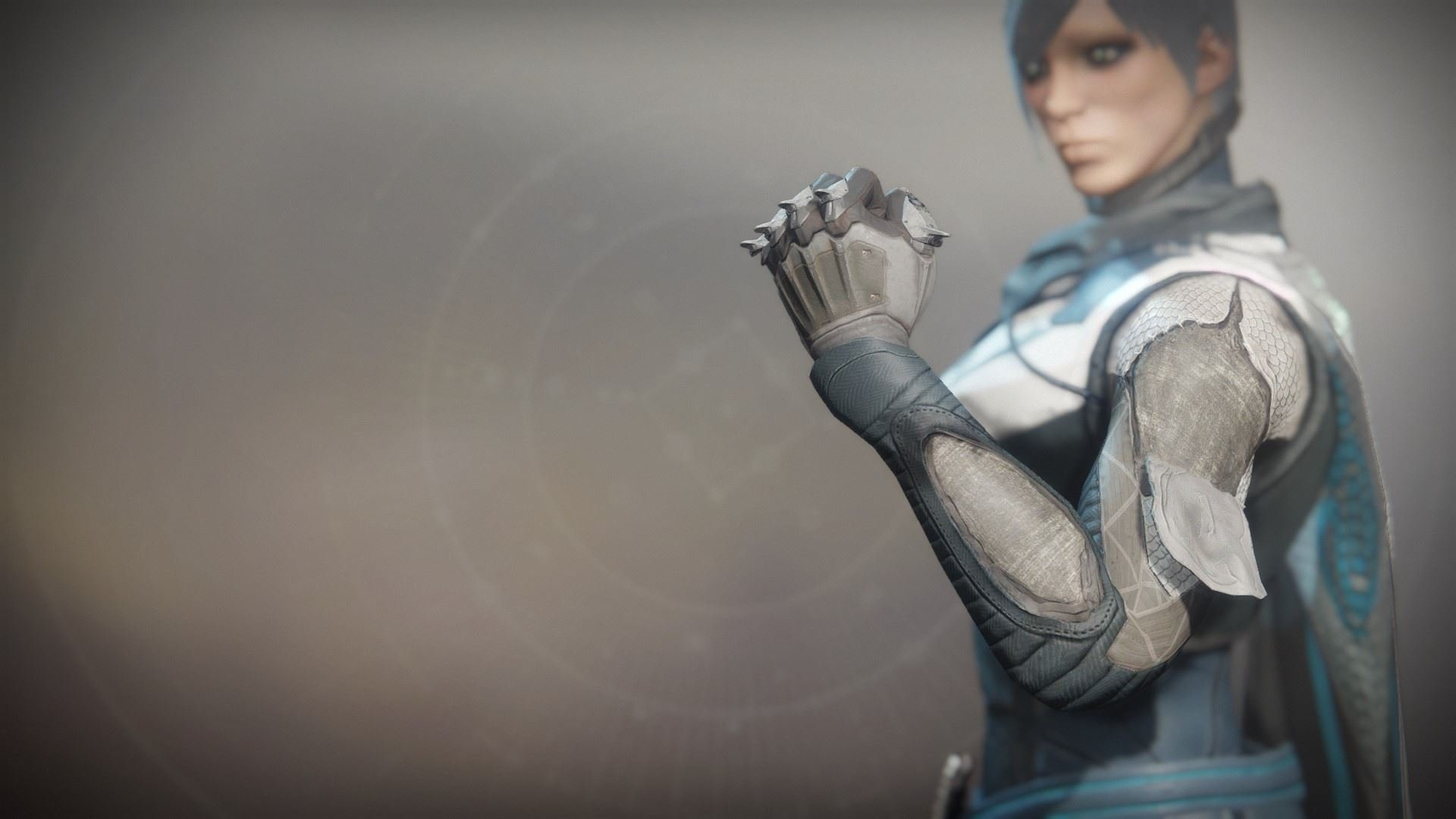 An in-game render of the Solstice Grasps (Scorched).