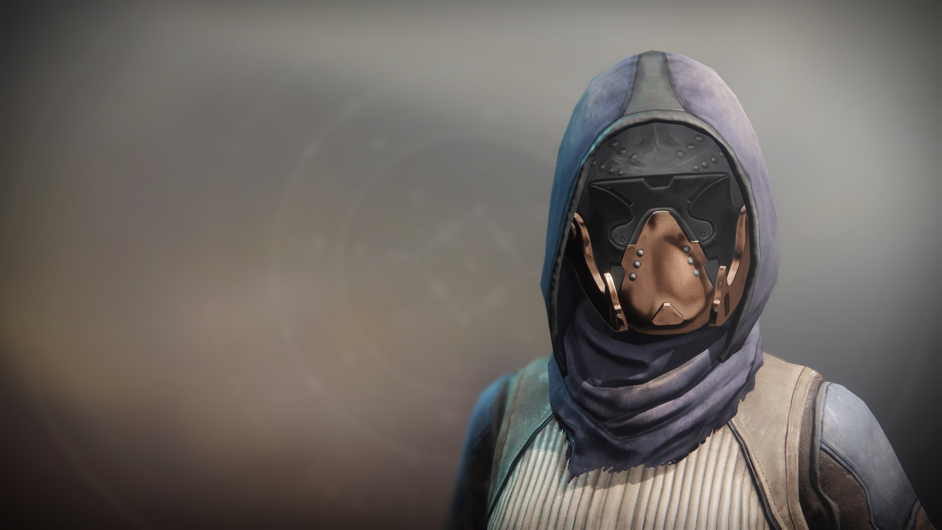An in-game render of the Equitis Shade Cowl.
