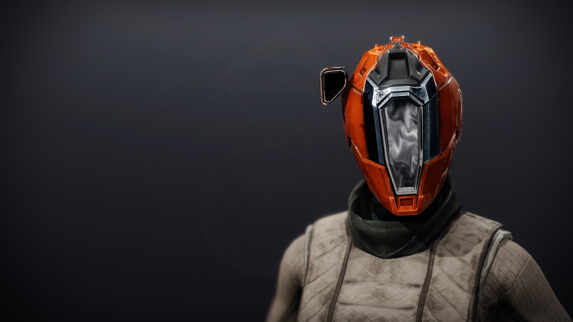 An in-game render of the Phobos Warden Cowl.