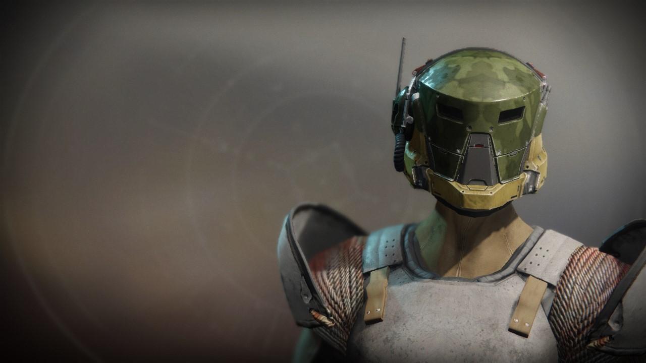 An in-game render of the Wildwood Helm.