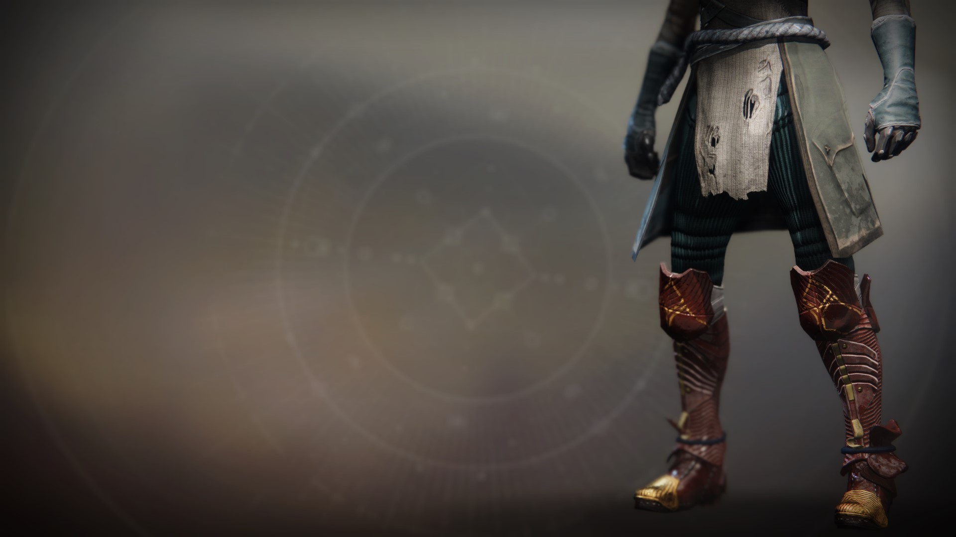 An in-game render of the Iron Remembrance Legs.
