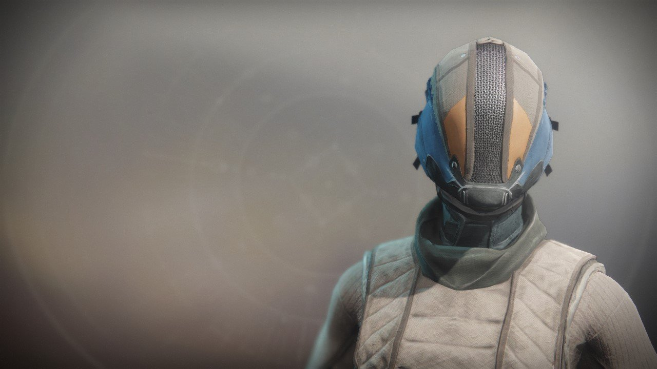 An in-game render of the Aspirant Helm.