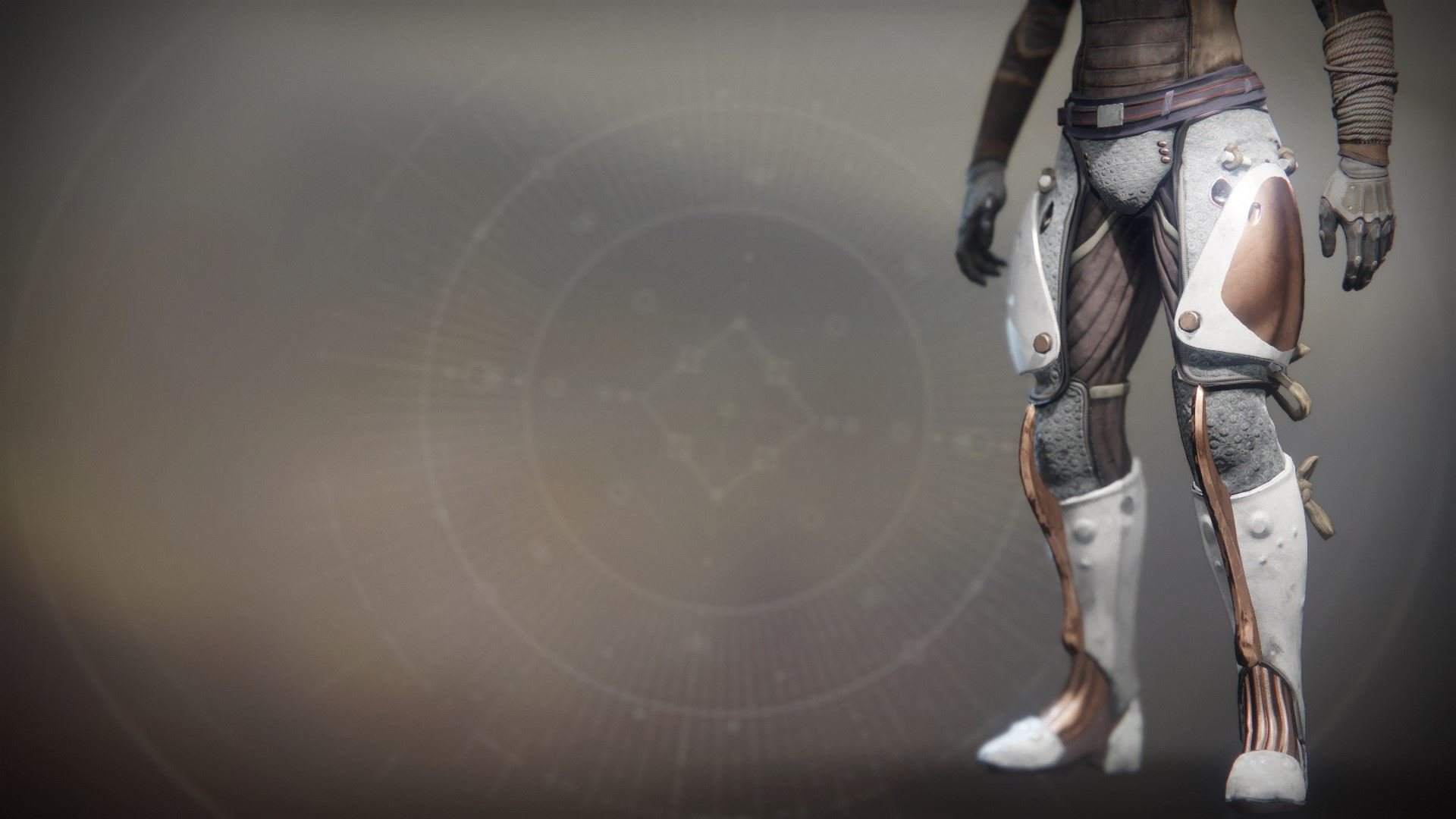 An in-game render of the Equitis Shade Boots.