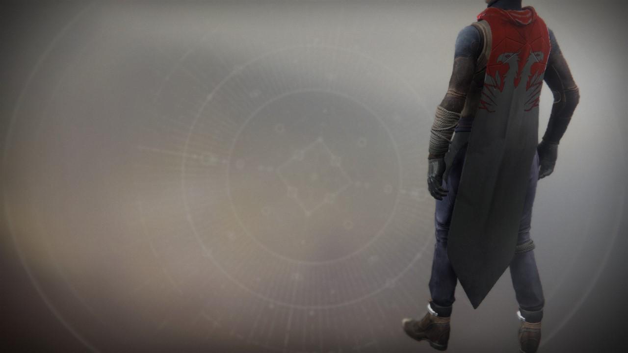 An in-game render of the Binary Phoenix Cloak.