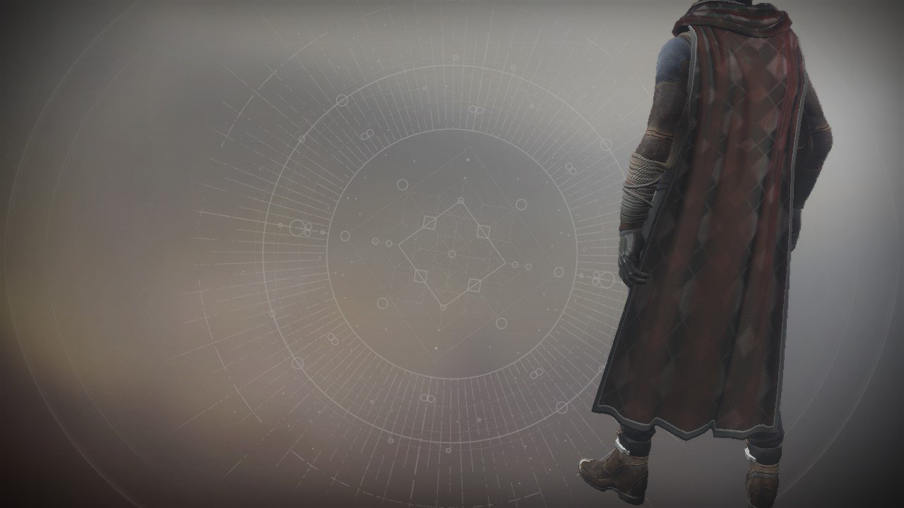 An in-game render of the Coronation Cloak.