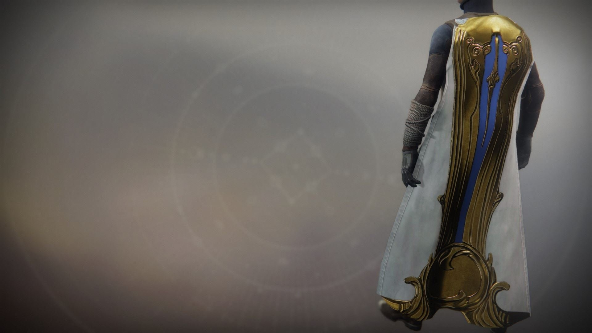 An in-game render of the Solstice Cloak (Resplendent).