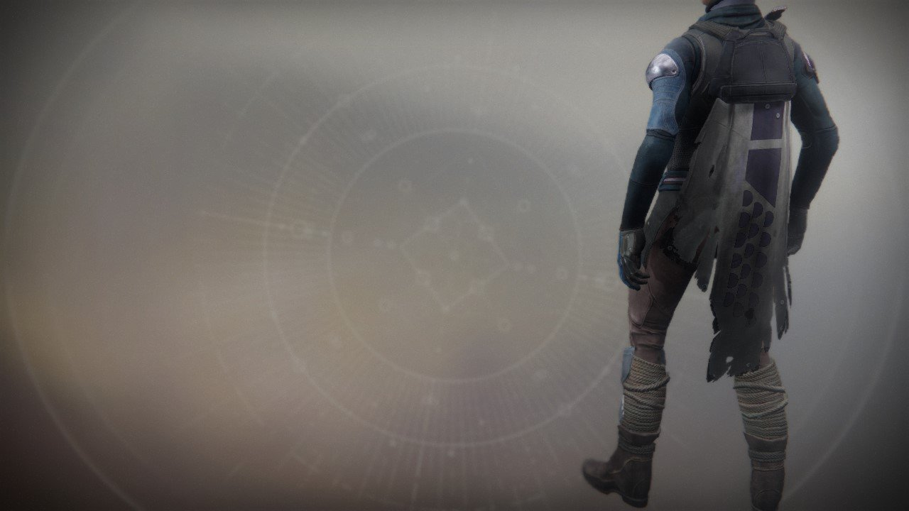 An in-game render of the Scavenger Cloak.