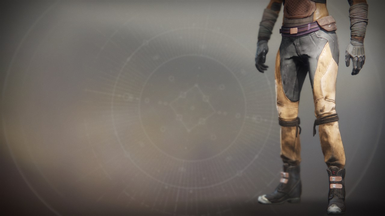 An in-game render of the Wastelander Boots.