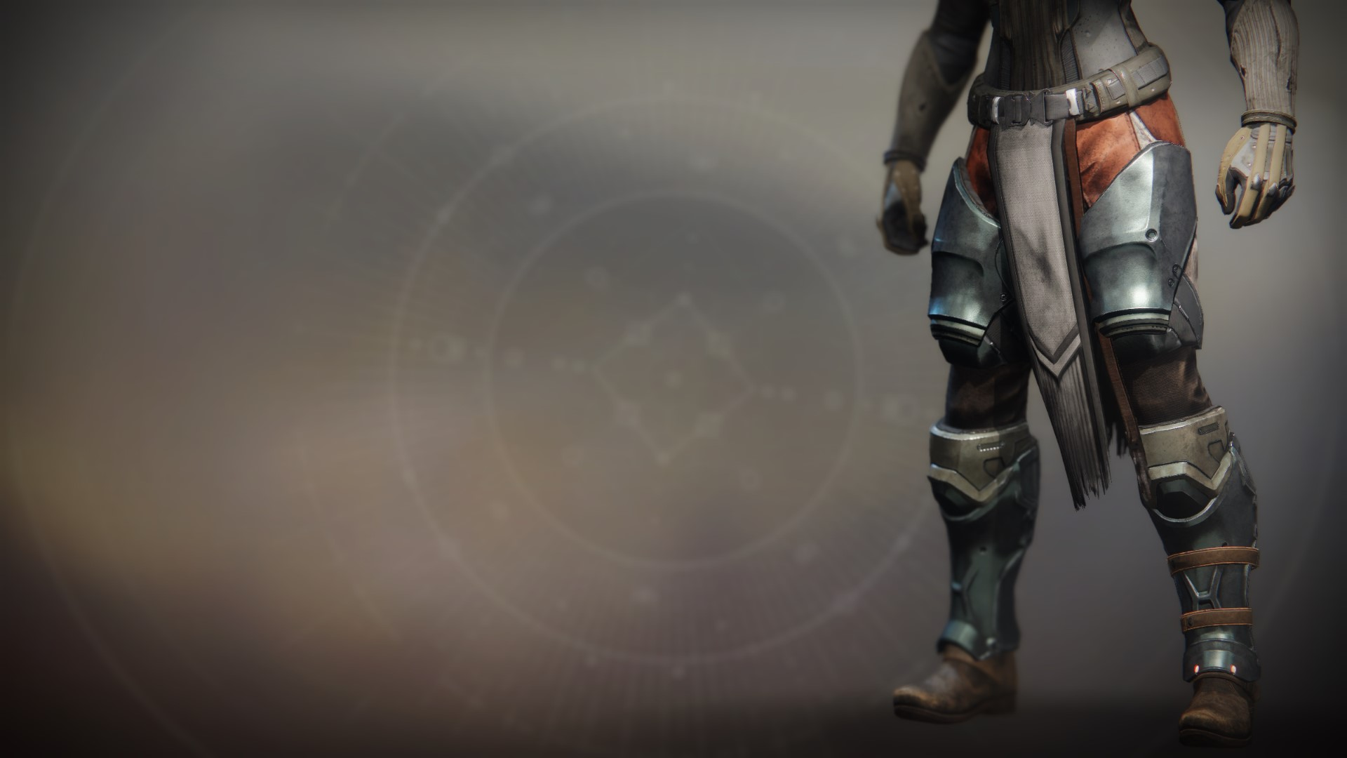 An in-game render of the Ancient Apocalypse Greaves.