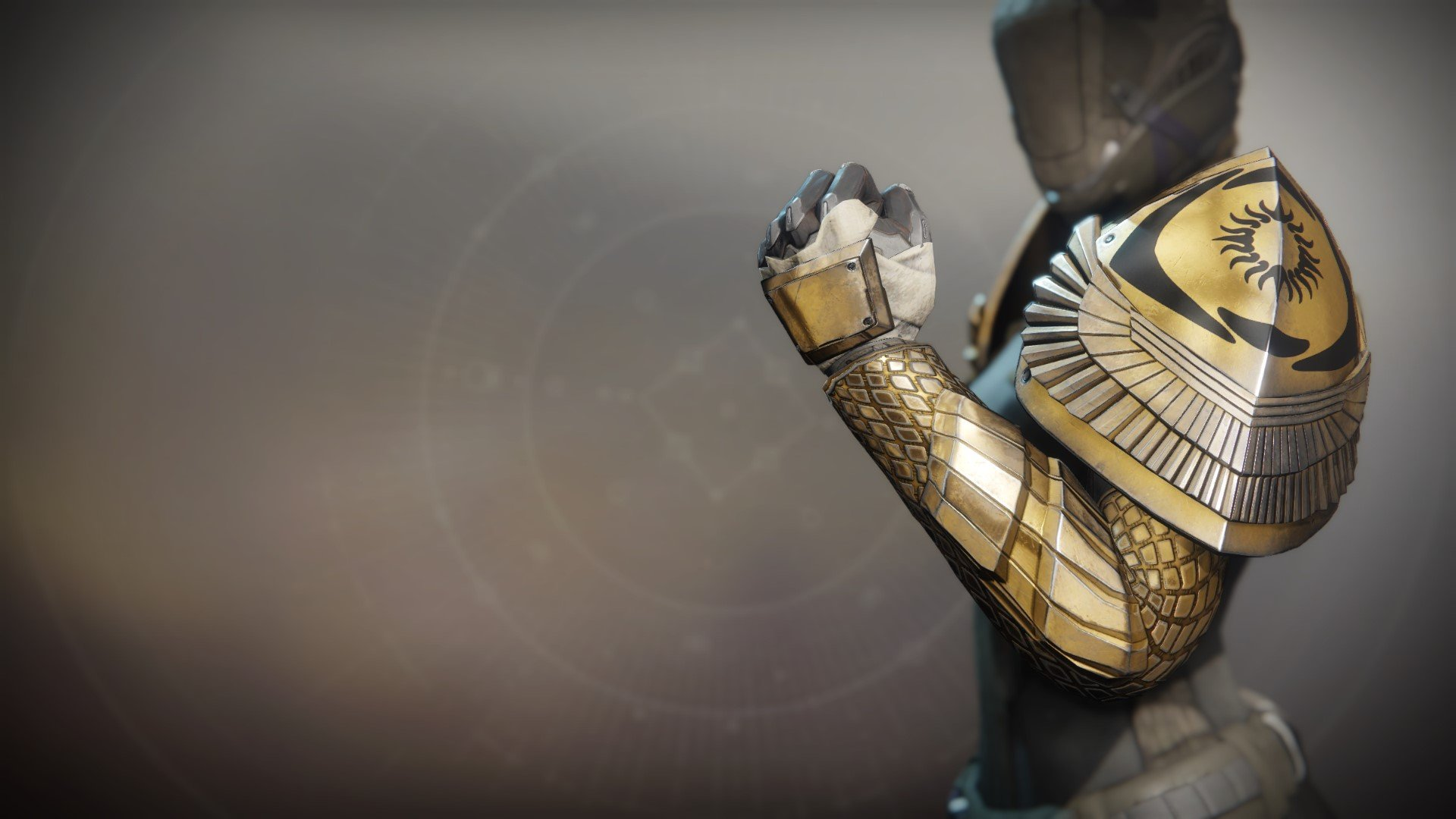 An in-game render of the Gauntlets of the Exile.