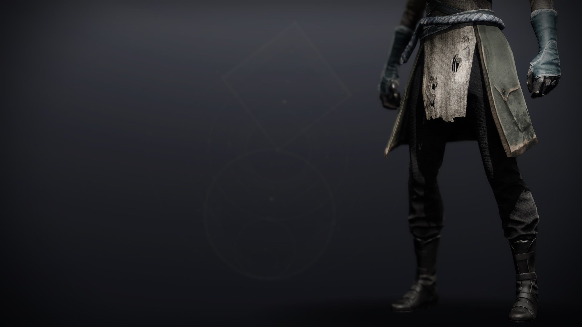 An in-game render of the Calamity Rig Boots.
