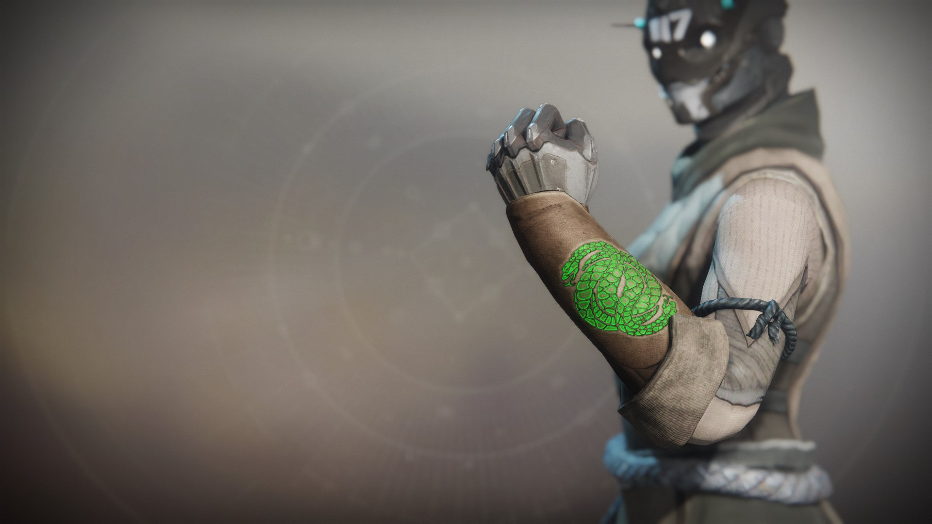 An in-game render of the Notorious Reaper Gloves.