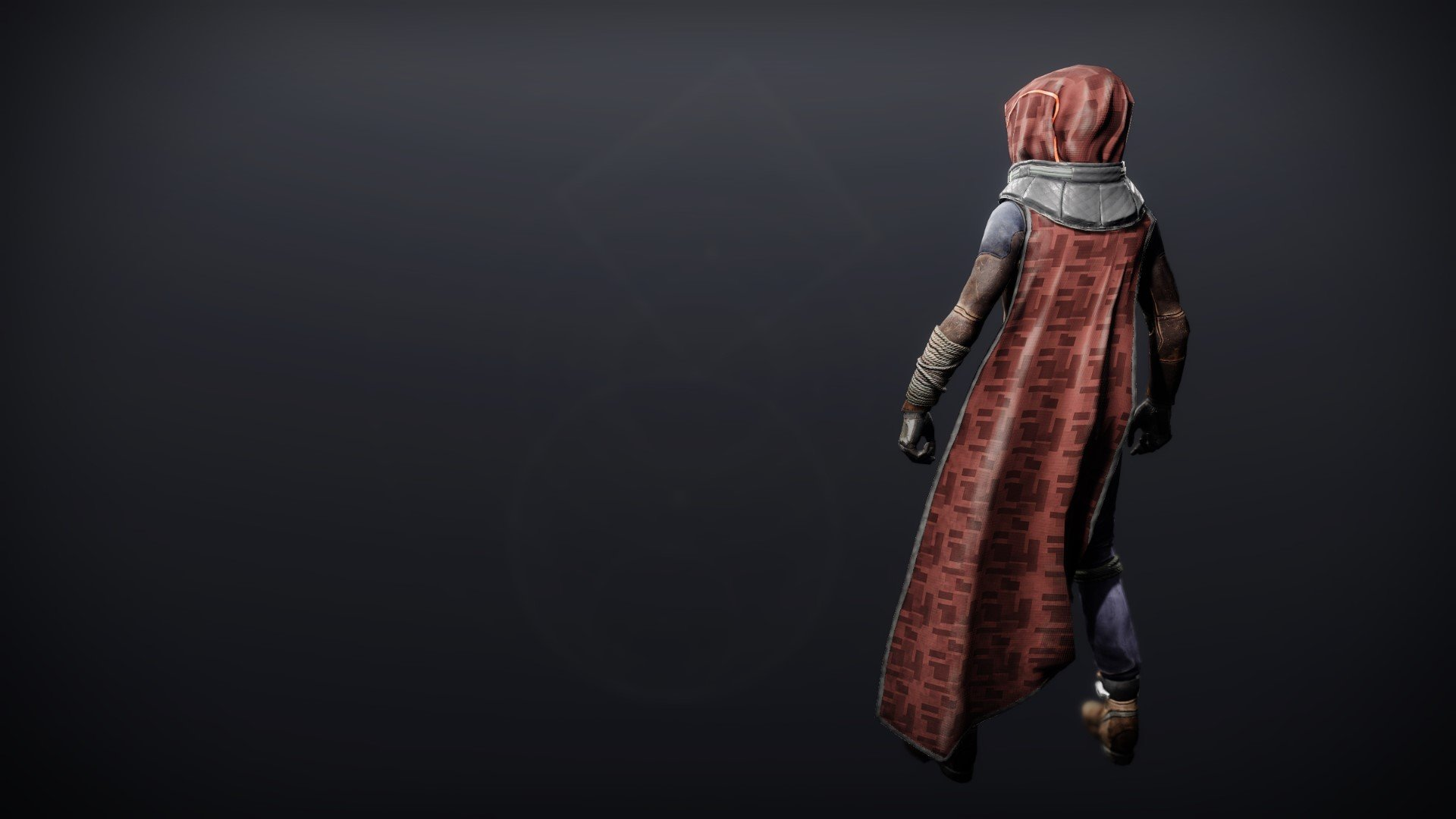 An in-game render of the Exodus Down Cloak.