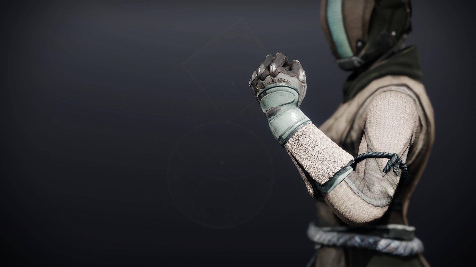 An in-game render of the Crystocrene Gloves.