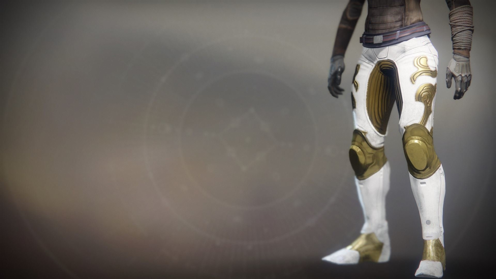 An in-game render of the Solstice Strides (Resplendent).