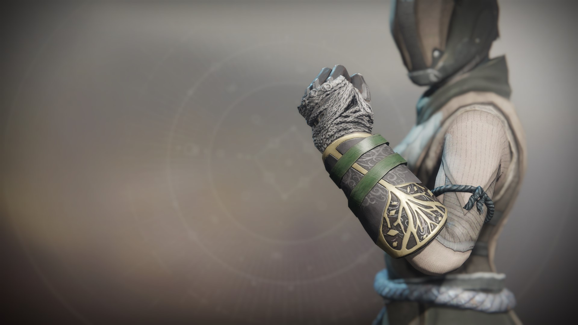 An in-game render of the Iron Truage Gloves.