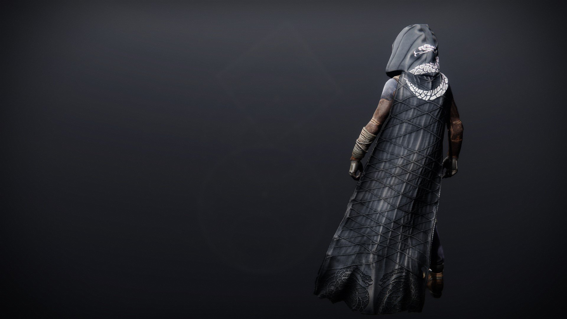 An in-game render of the Illicit Collector Cloak.