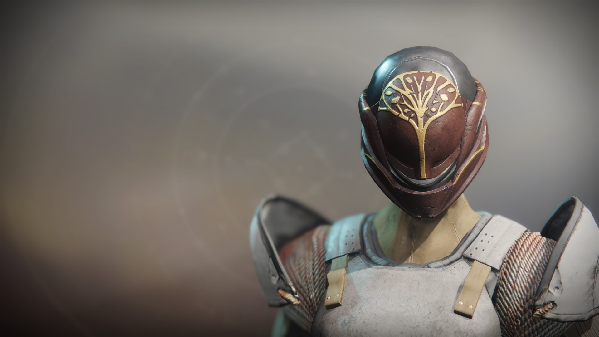 An in-game render of the Iron Fellowship Helm.