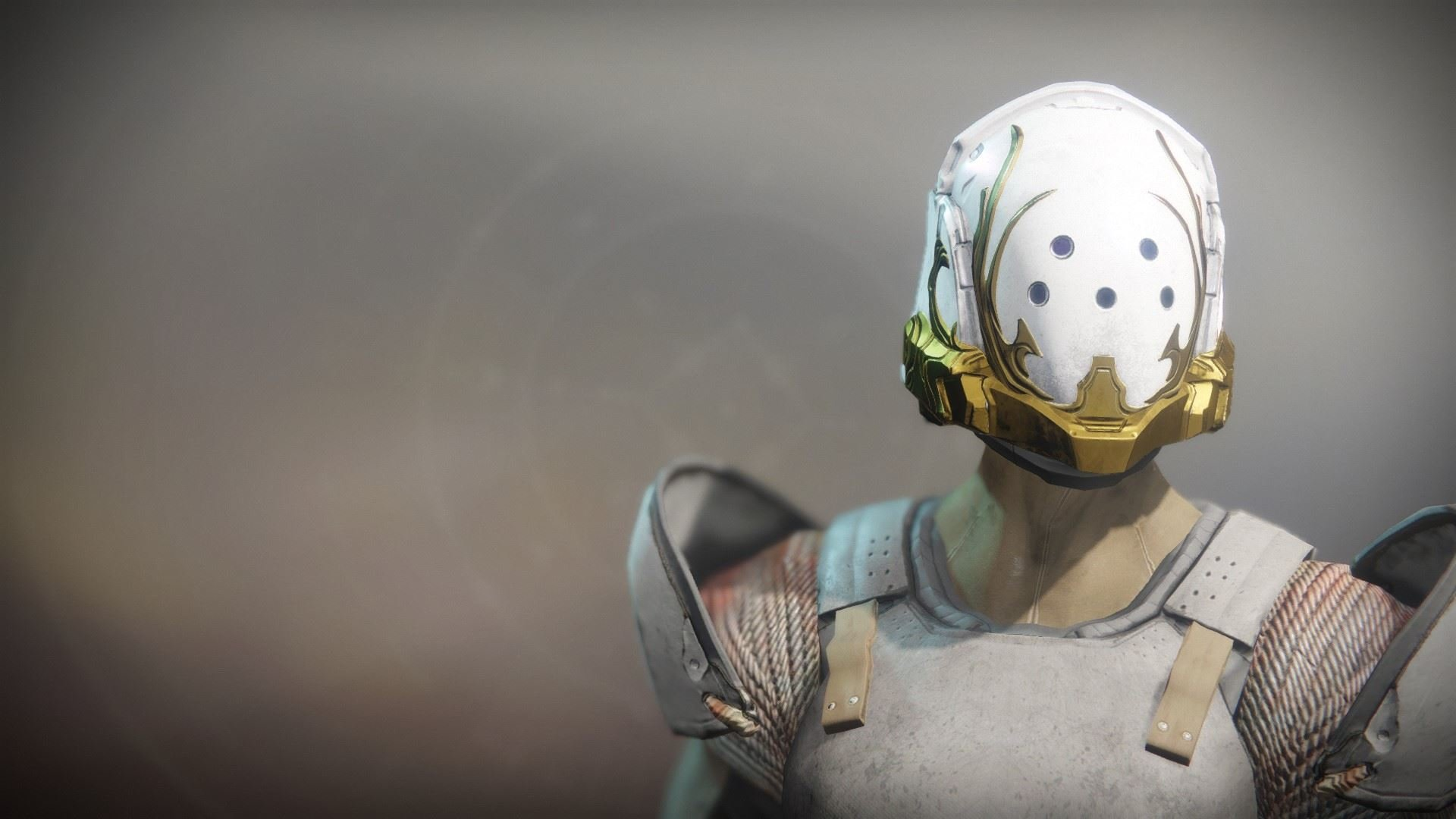 An in-game render of the Solstice Helm (Resplendent).