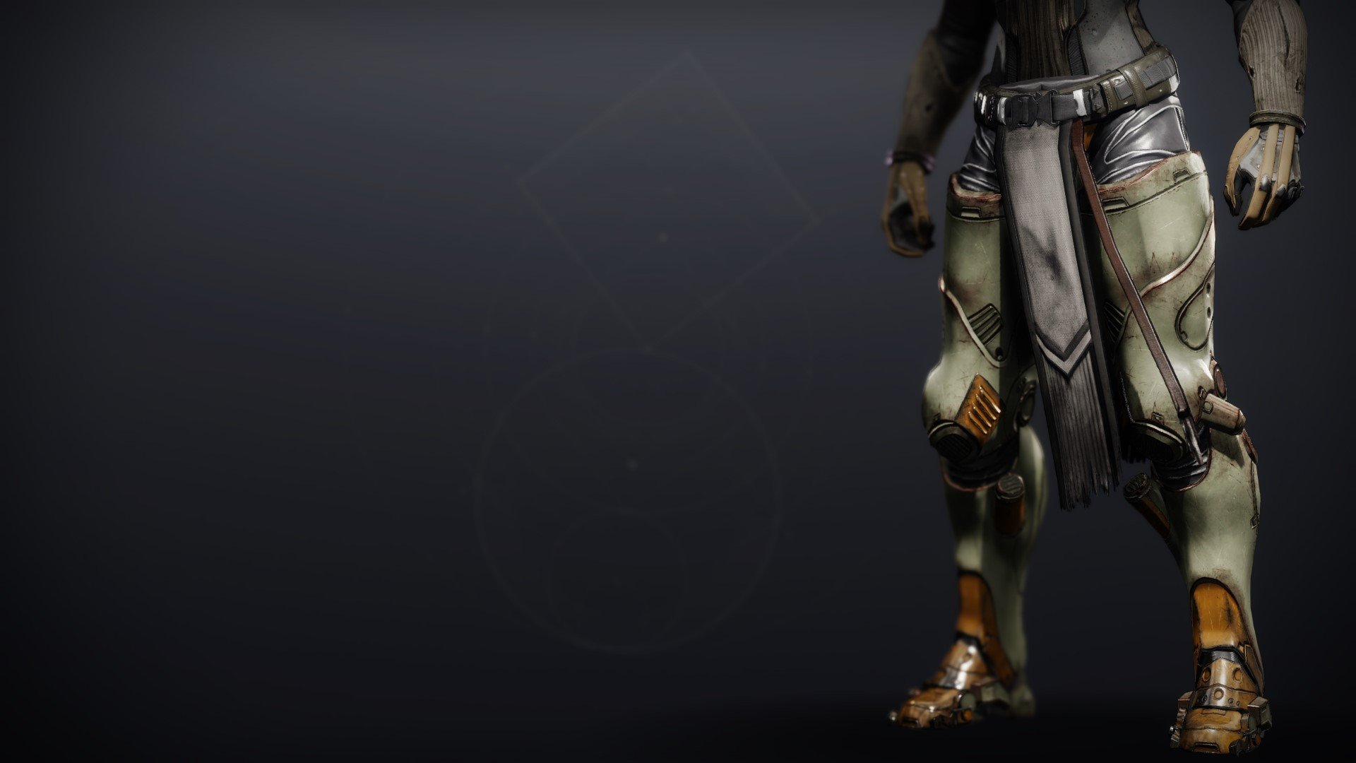 An in-game render of the Lightkin Greaves.