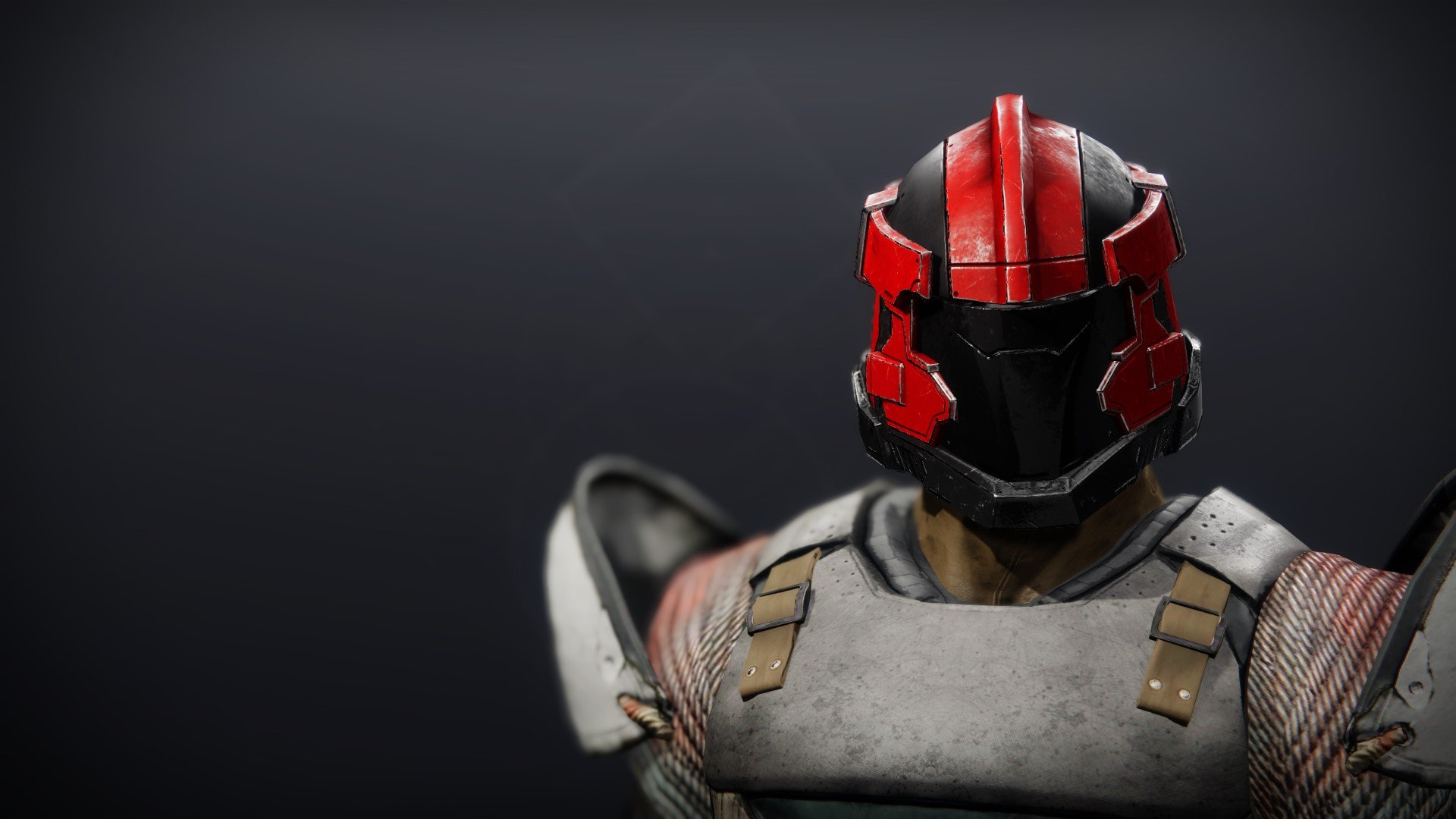 An in-game render of the Cinder Pinion Helm.