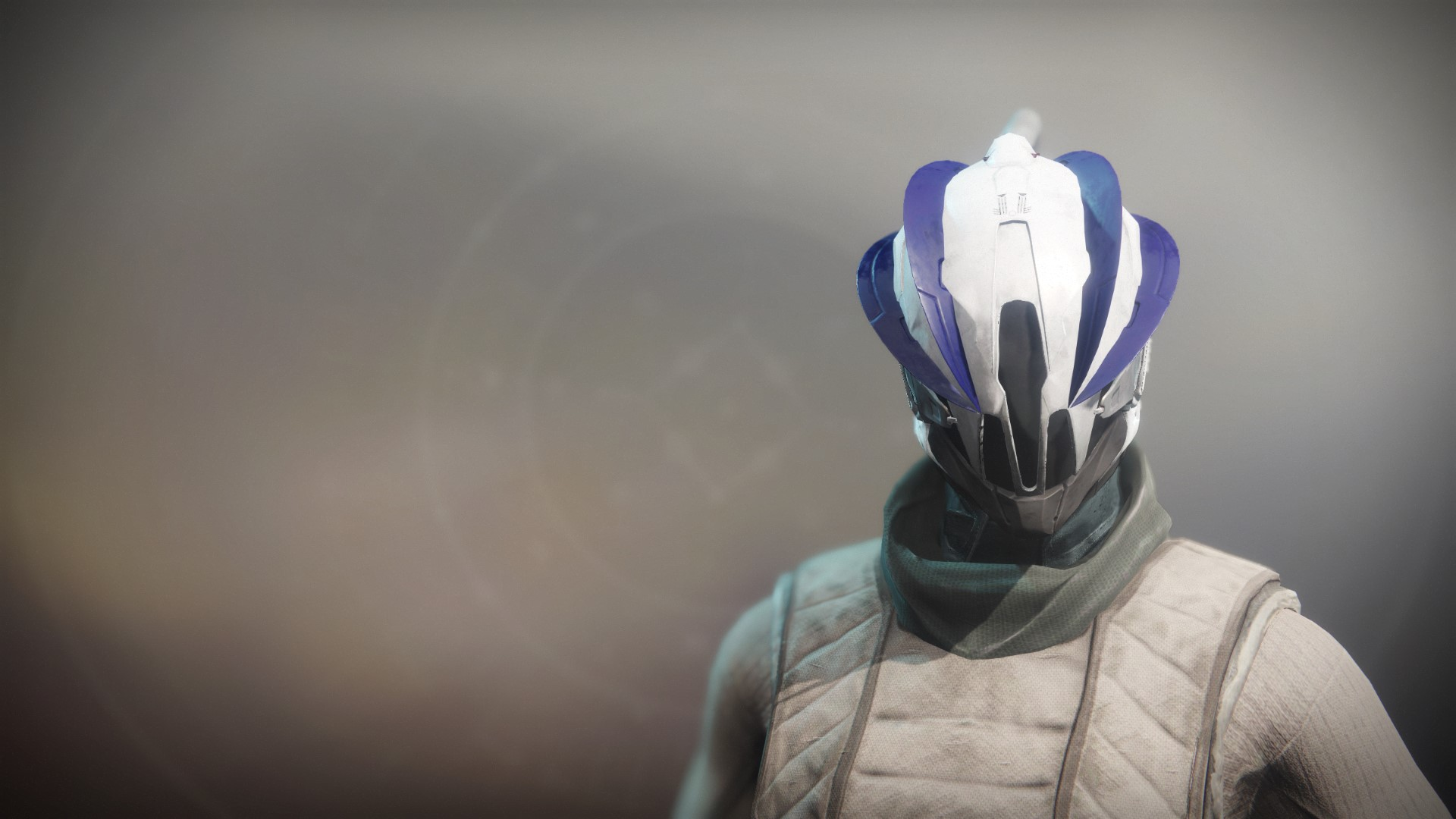 An in-game render of the Fire-Forged Warlock Head Ornament.