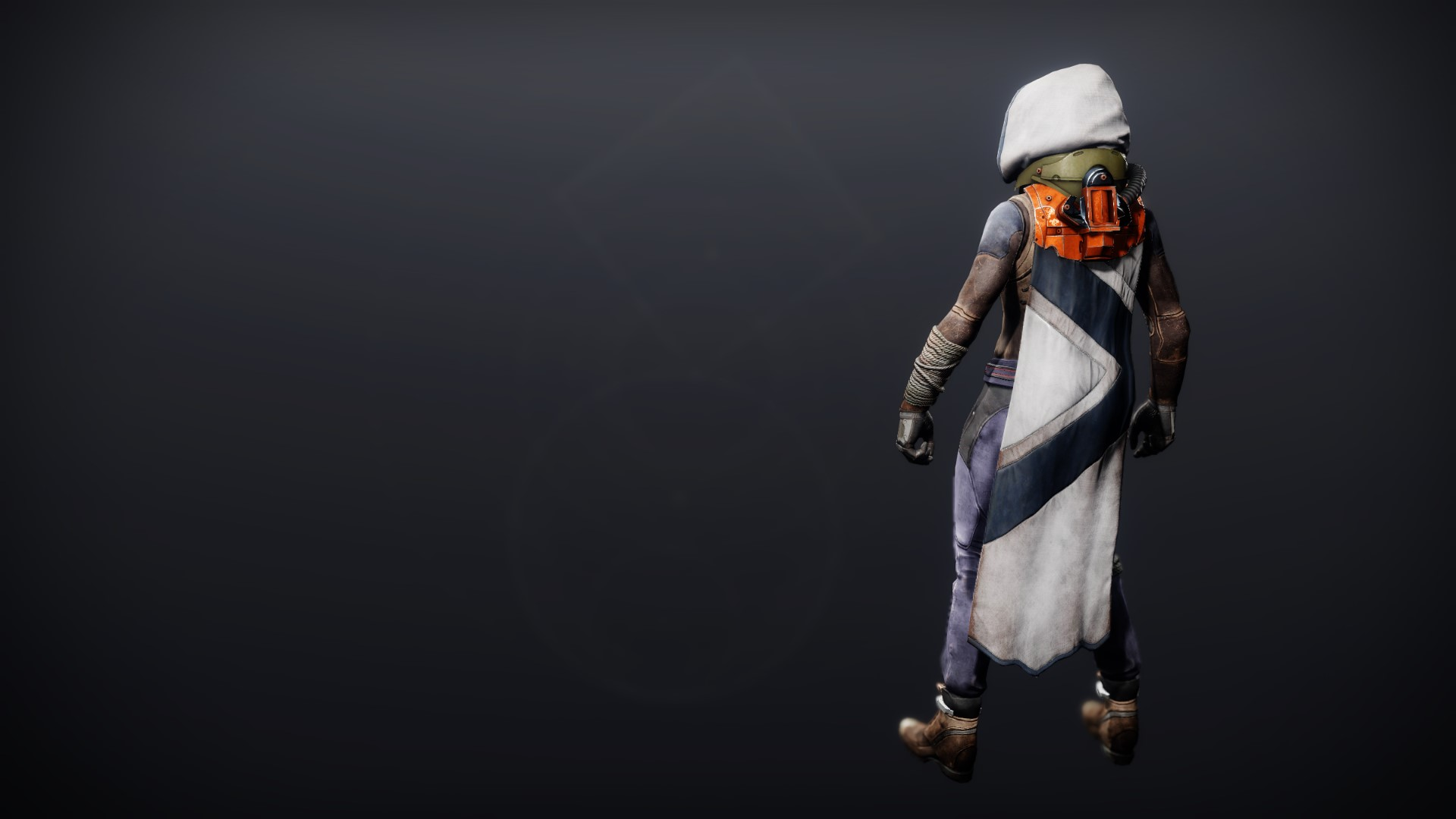 An in-game render of the Phobos Warden Cloak.