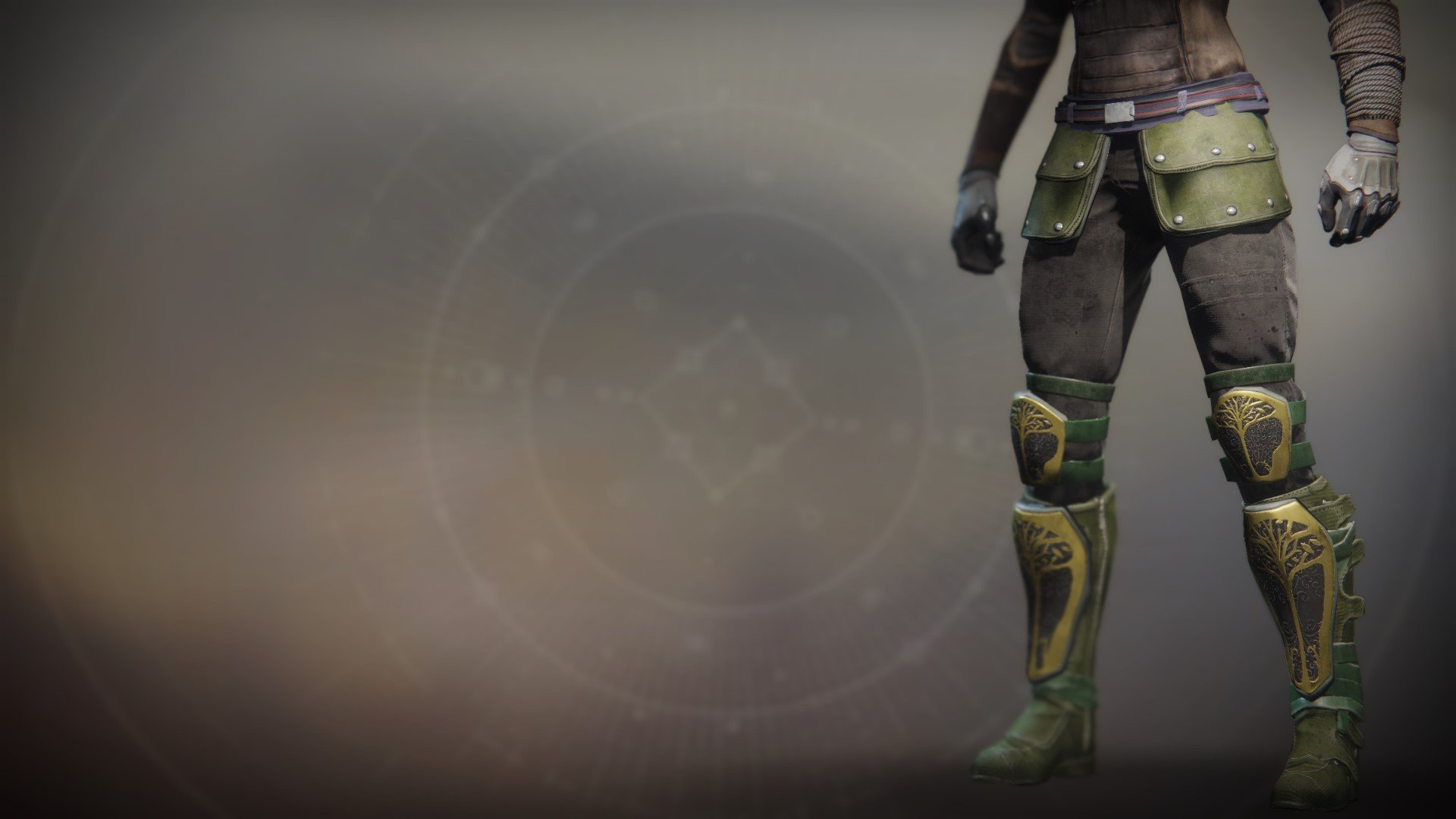 An in-game render of the Iron Truage Boots.