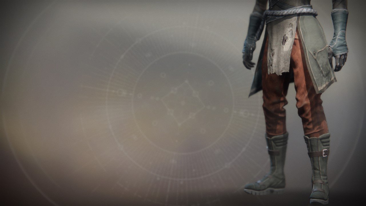An in-game render of the Wildwood Boots.