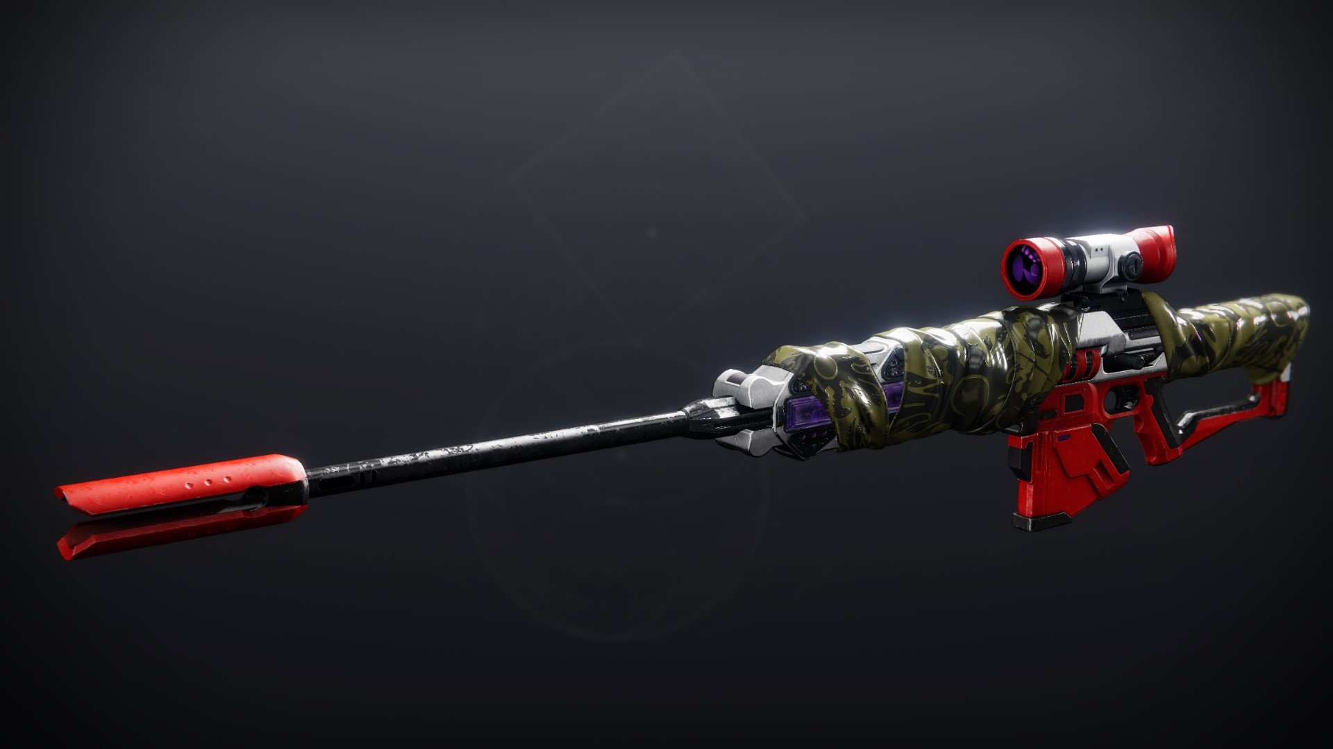 An in-game render of the Rubicund Wrap (Ornament).