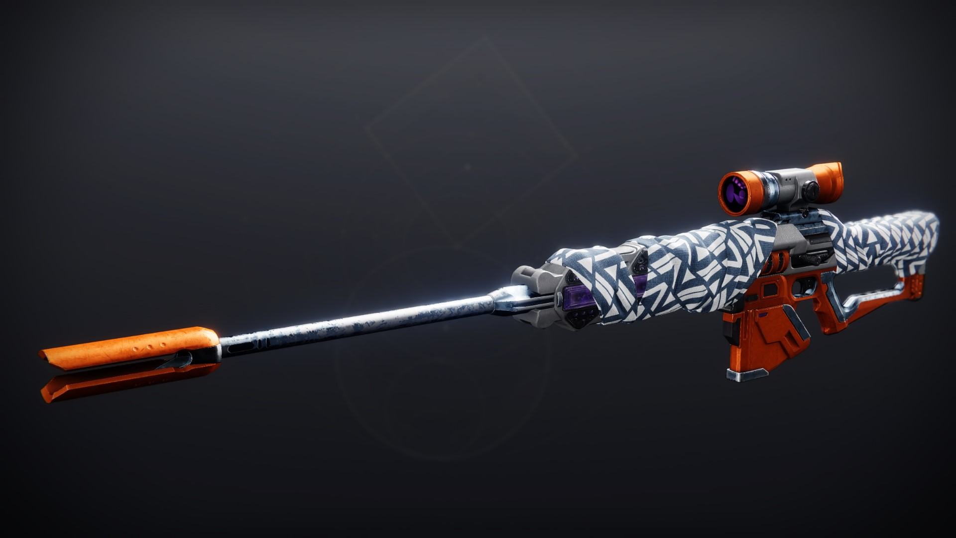 An in-game render of the Balistraria Wrap (Ornament).