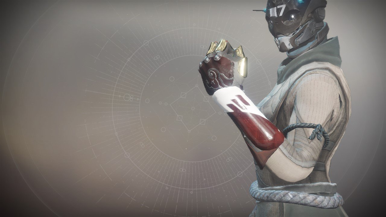An in-game render of the Sovereign Gloves.