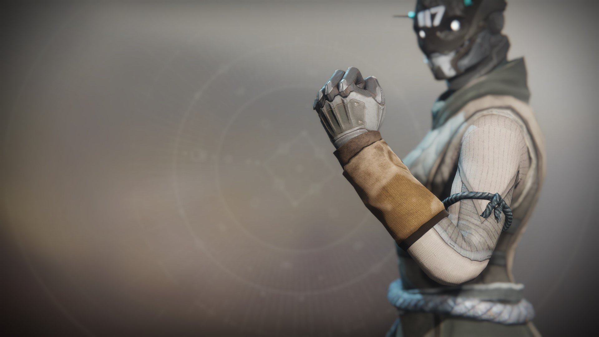 An in-game render of the Ancient Apocalypse Gloves.