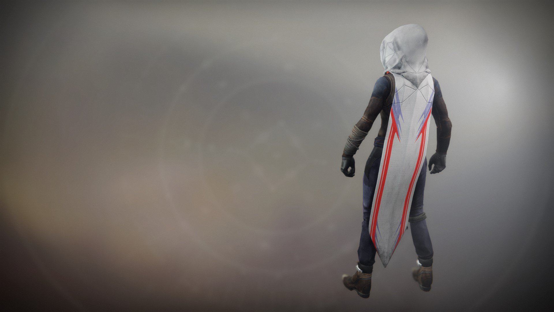 An in-game render of the Fire-Forged Hunter Cloak Ornament.