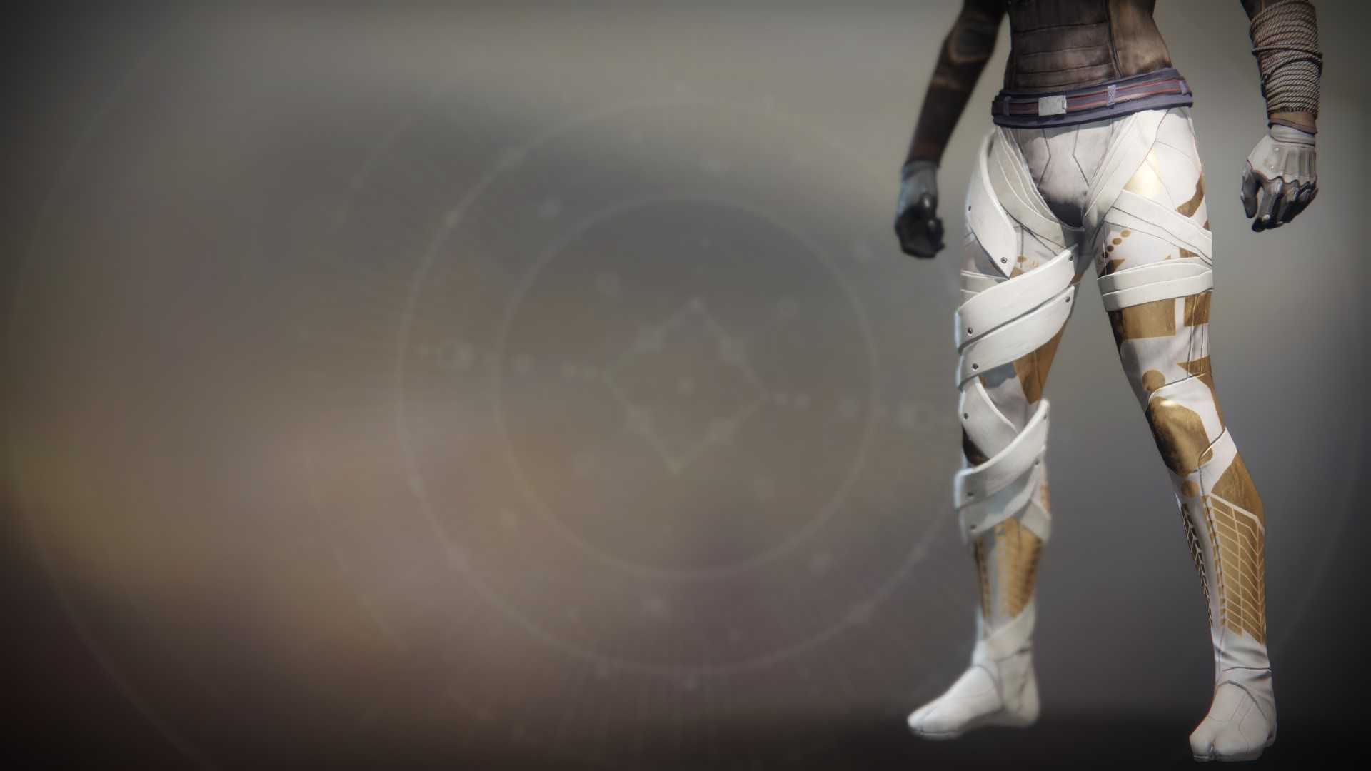 An in-game render of the Boots of the Ace-Defiant.