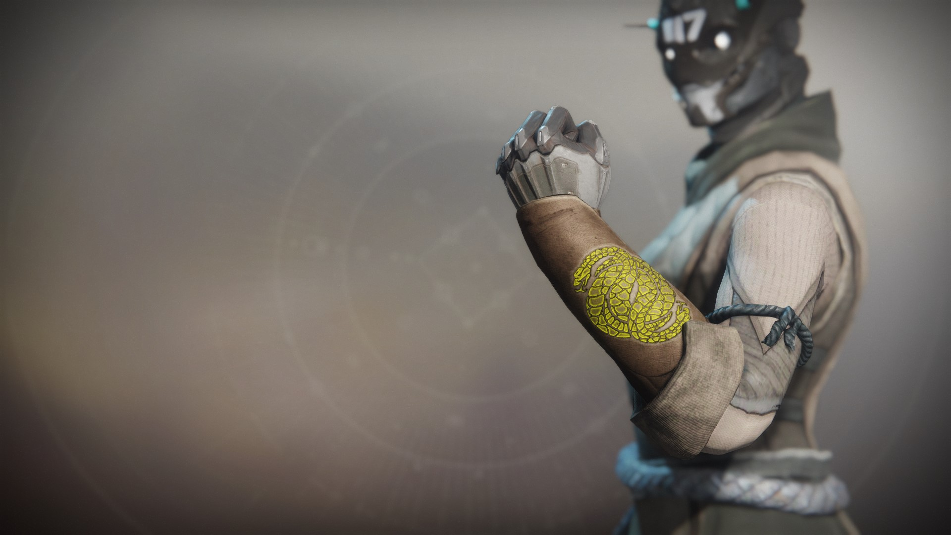 An in-game render of the Notorious Sentry Gloves.
