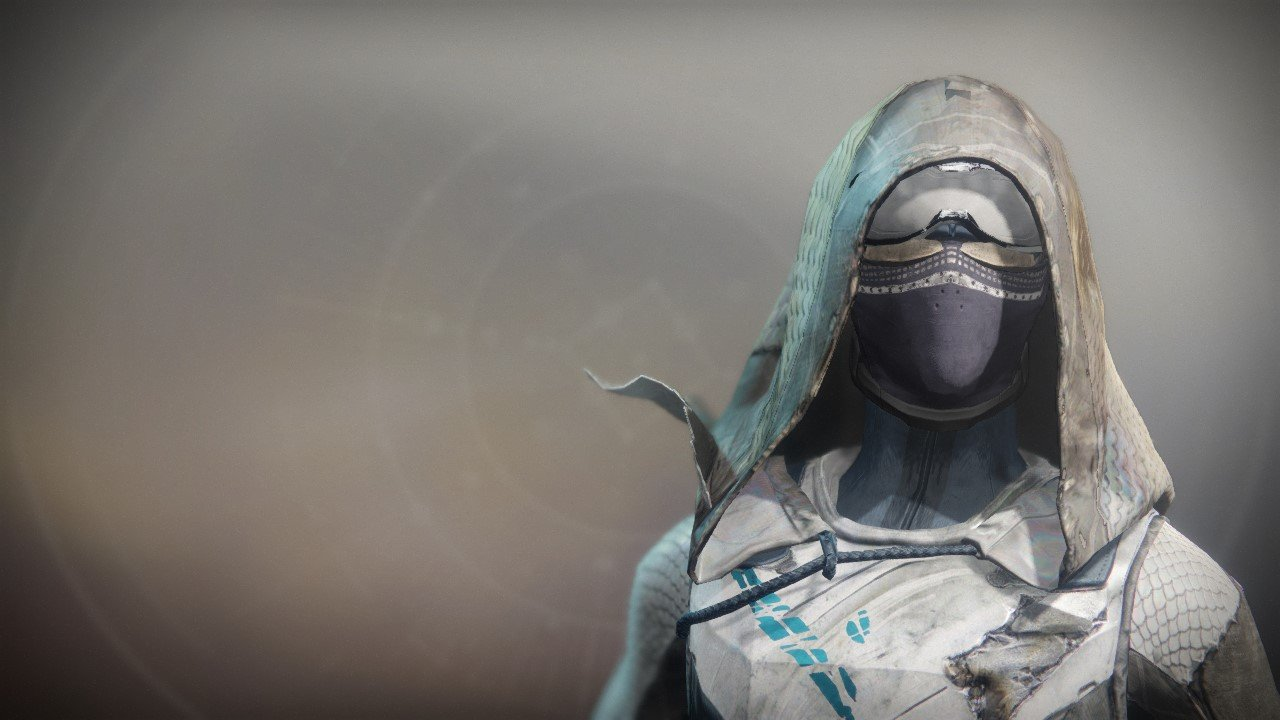 An in-game render of the Refugee Mask.
