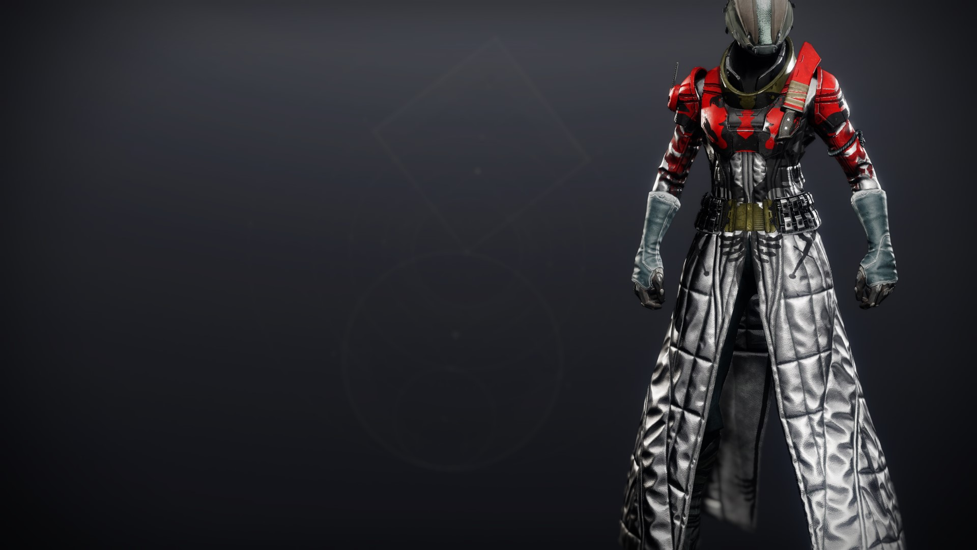 An in-game render of the Cinder Pinion Robes.