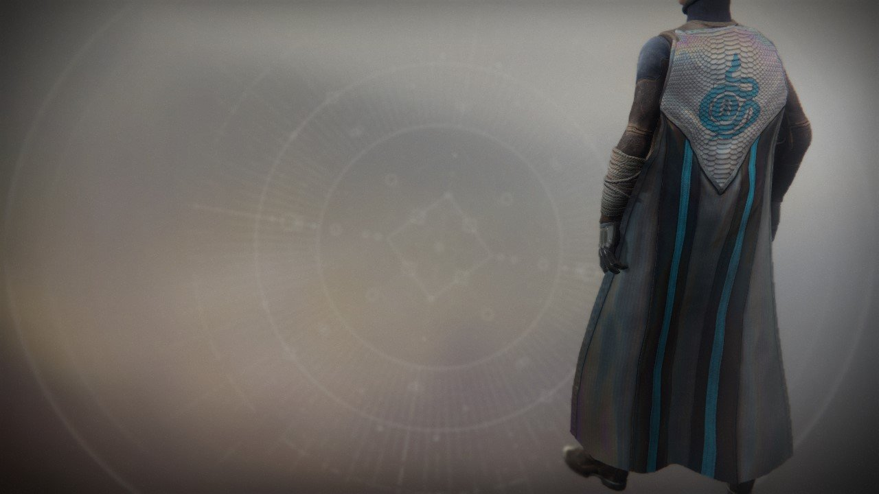 An in-game render of the Frumious Cloak.