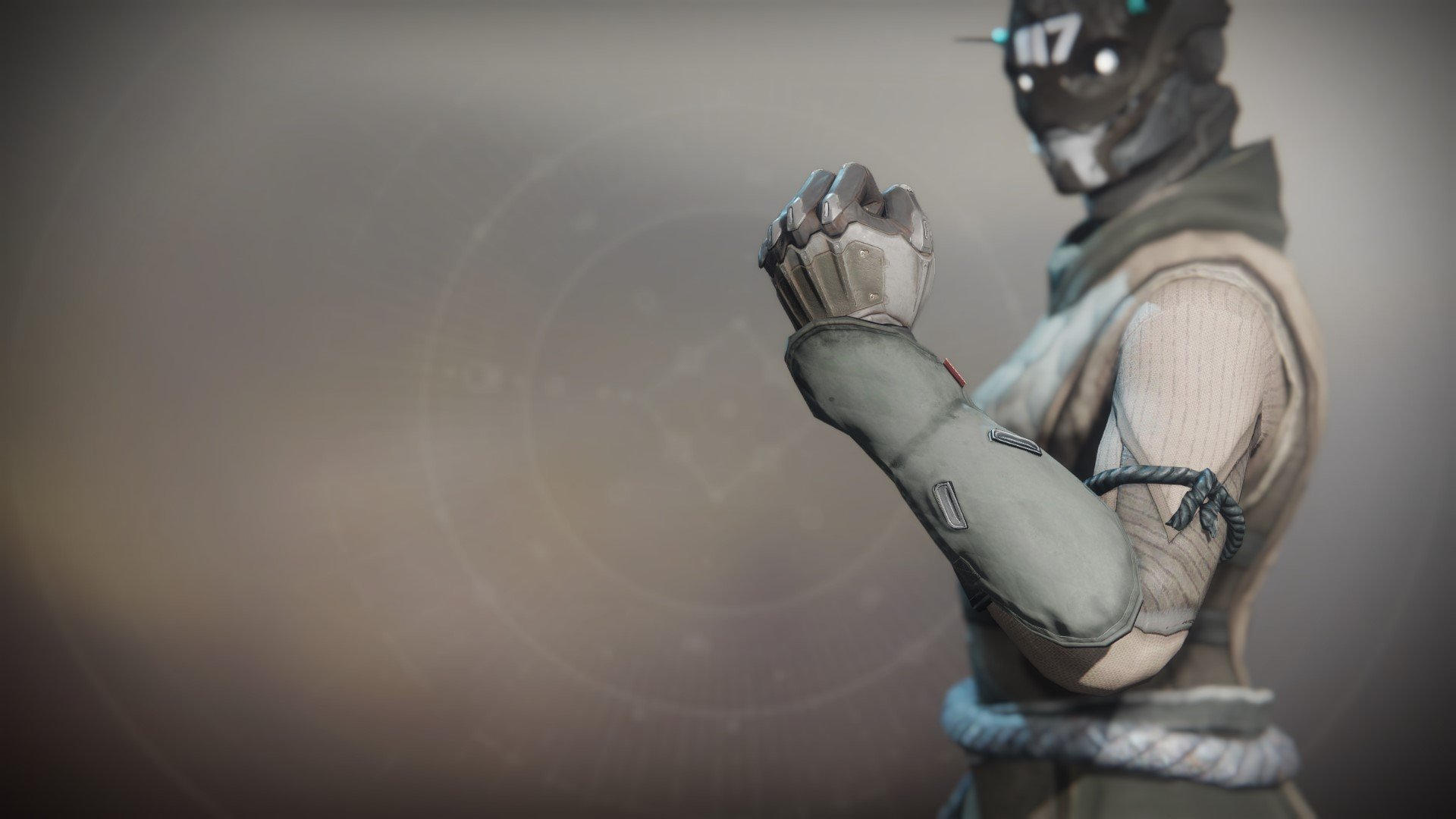 An in-game render of the Exodus Down Gloves.