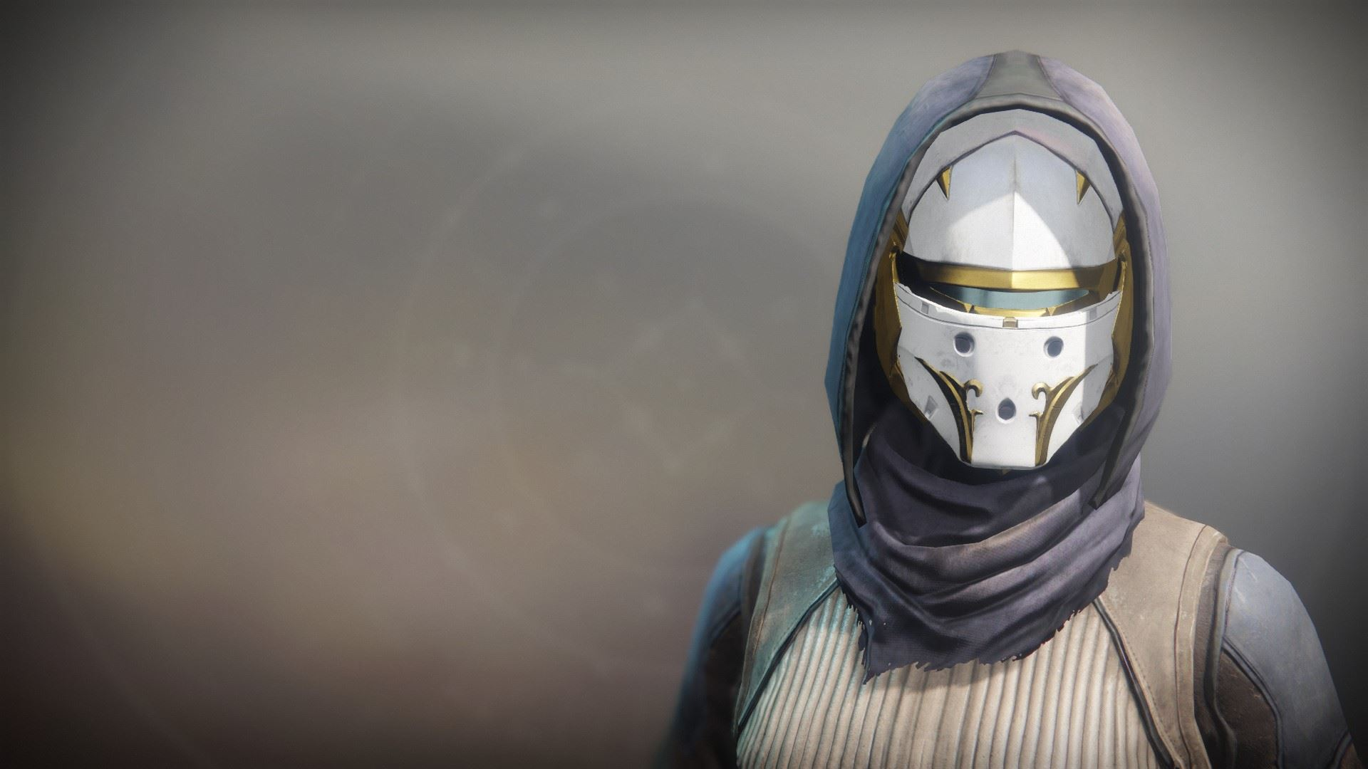 An in-game render of the Solstice Mask (Resplendent).
