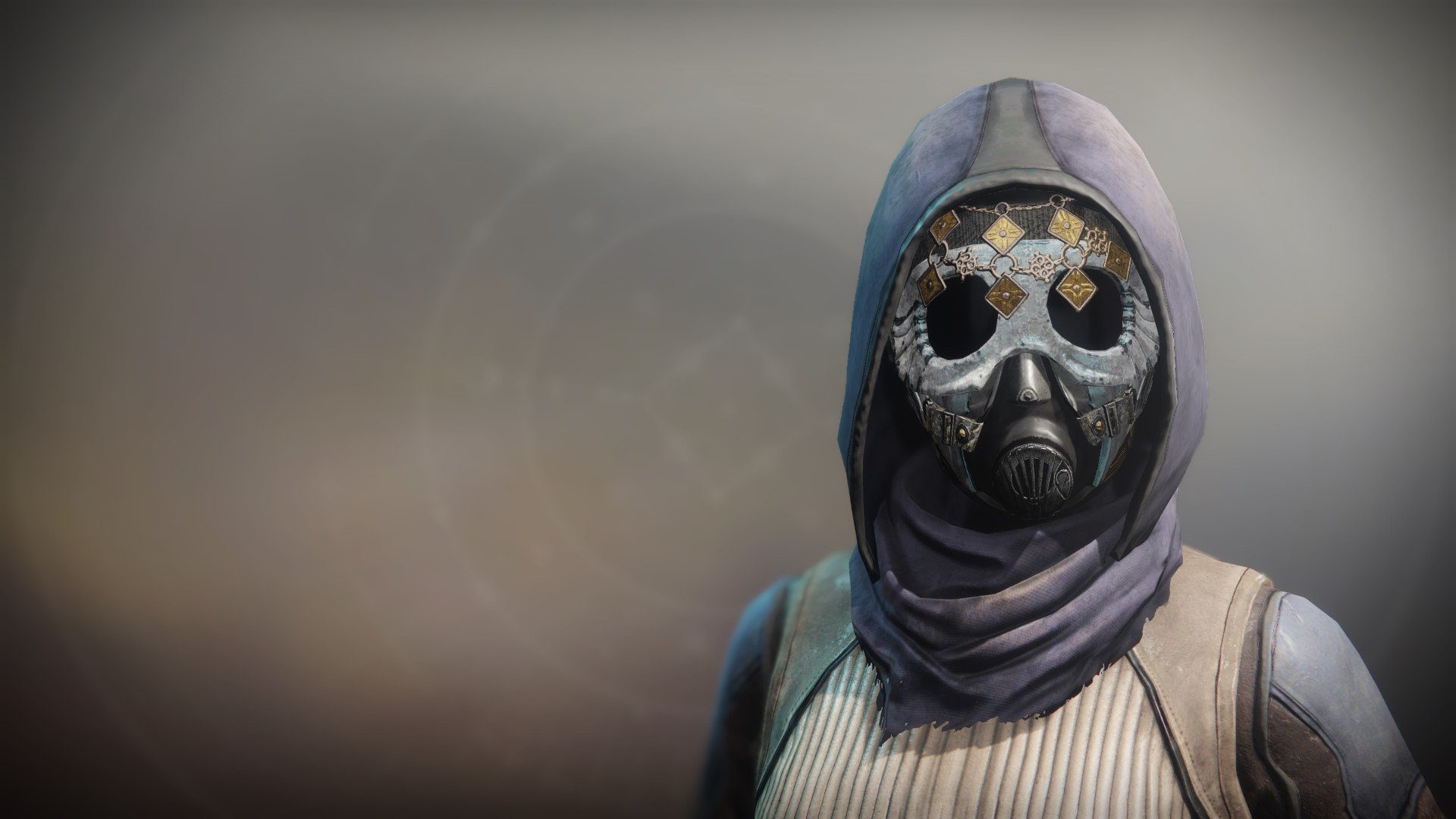 An in-game render of the Dreambane Cowl.
