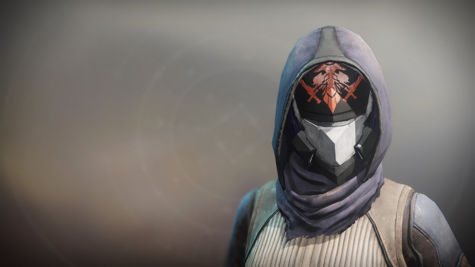 An in-game render of the Fire-Forged Hunter Head Ornament.