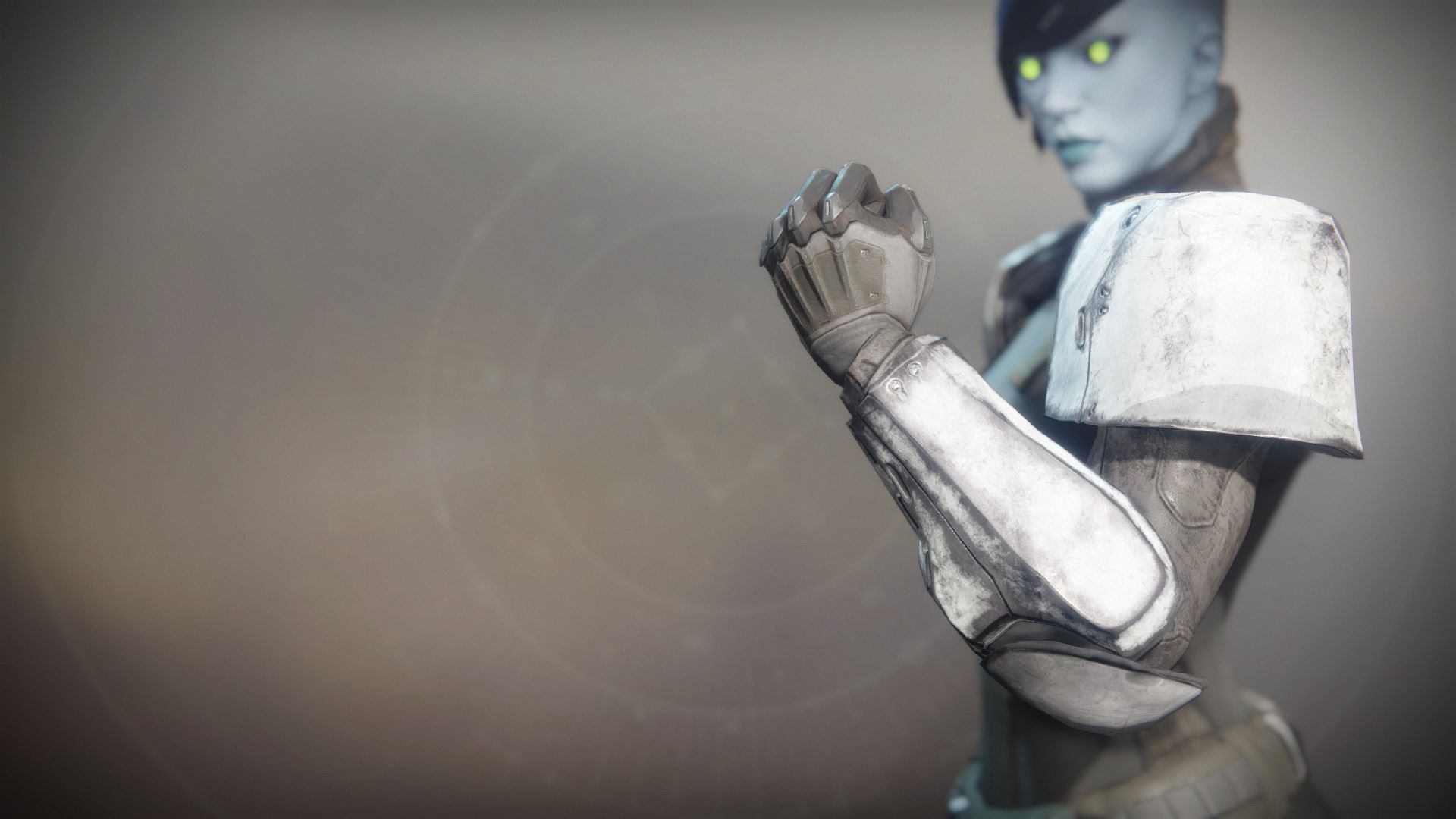 An in-game render of the Solstice Gauntlets (Rekindled).