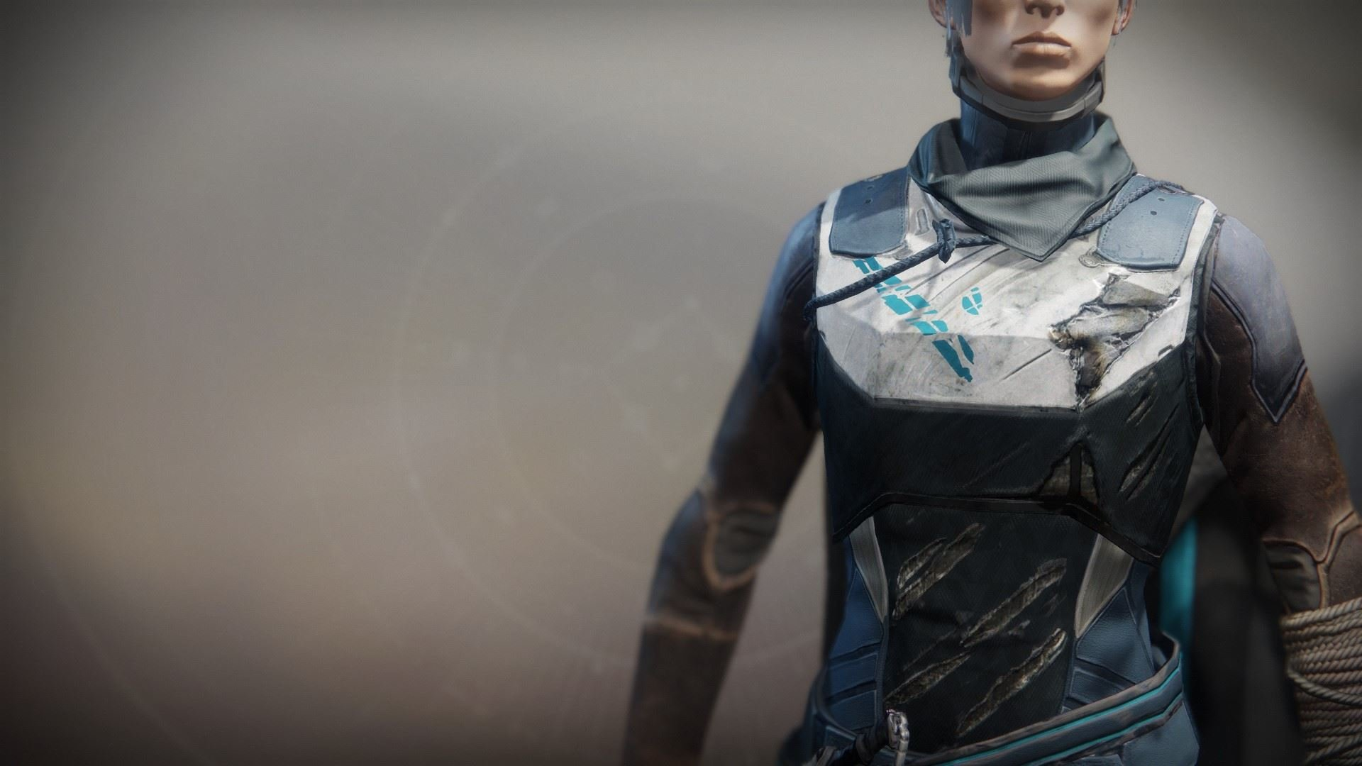 An in-game render of the Solstice Vest (Scorched).